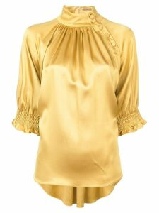 Adam Lippes mockneck blouse - Metallic