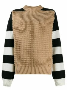 Haider Ackermann striped contrast sweater - NEUTRALS