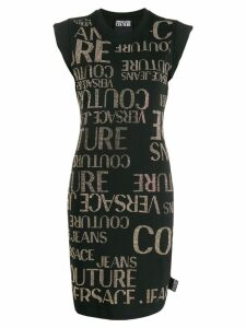 Versace Jeans embellished logo T-shirt dress - Black