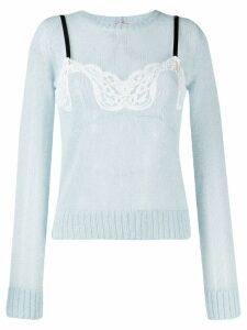 Nº21 lingerie top jumper - Blue