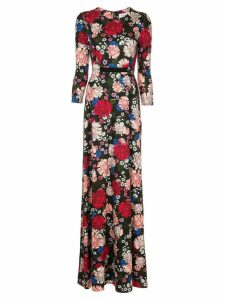 Erdem floral printed dress - Black