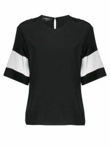 Rochas sheer panels T-shirt - Black