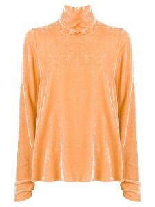 Forte Forte turtleneck velvet blouse - Yellow