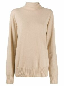 Maison Margiela roll neck sweater - Brown