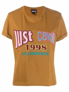 Just Cavalli embroidered logo T-shirt - Brown
