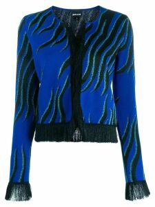 Just Cavalli fringed cardigan - Blue