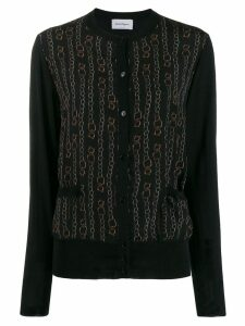 Salvatore Ferragamo chain print cardigan - Black