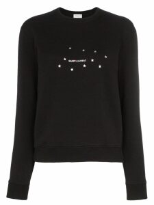 Saint Laurent star logo print sweatshirt - Black