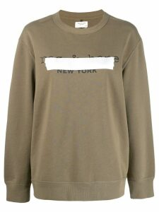 Rag & Bone taped logo sweater - Green