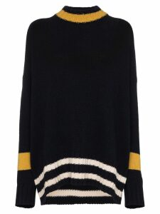 Plan C oversized stripe knit jumper - Blue