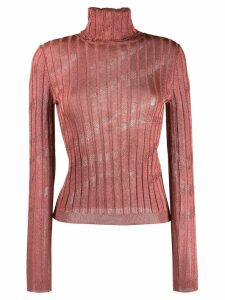 Just Cavalli ribbed turtleneck top - Pink
