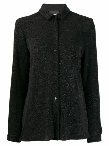 Just Cavalli glitter classic collar shirt - Black