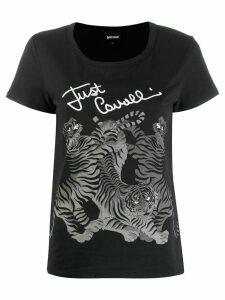 Just Cavalli tiger print T-shirt - Black