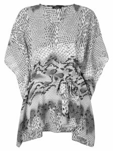 Natori printed kaftan blouse - Grey