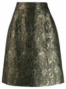 Dolce & Gabbana embellished brocade skirt - GOLD