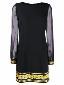Versace Baroque print shift dress - Black
