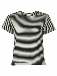 Re/Done striped T-shirt - Black