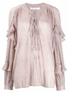 IRO glitter detailed blouse - Pink