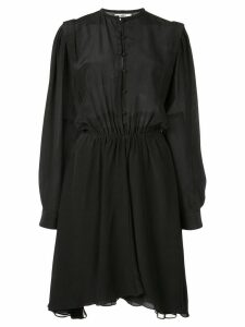 Etoile gathered waist crepe de chine dress - Black