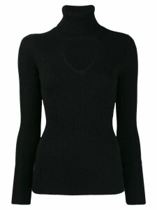 P.A.R.O.S.H. turtleneck sweatshirt with cut out detail - Black
