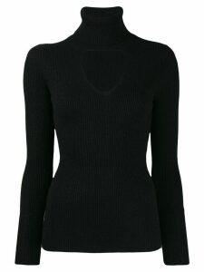 P.A.R.O.S.H. turtleneck sweatshirt with cut out detail - Black