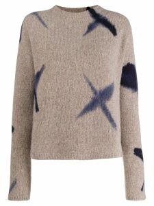 Suzusan fine knit sweatshirt - Neutrals