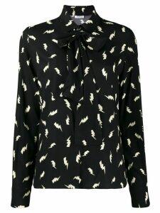 P.A.R.O.S.H. lightning print shirt - Black