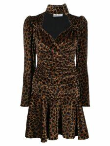 The Attico leopard print mini dress - Green