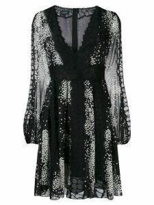 Giambattista Valli short printed dress - Black