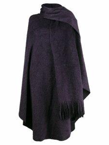 Mm6 Maison Margiela scarf wrap poncho - Purple