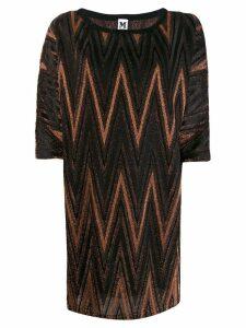 M Missoni zigzag metallic shift dress - Black