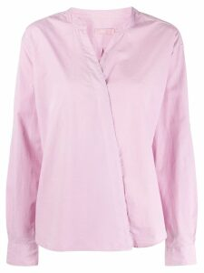 Closed wrap placket shirt - PINK