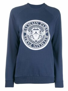 Balmain Medallion logo sweatshirt - Blue