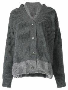 Maison Margiela triple way cardigan - Grey
