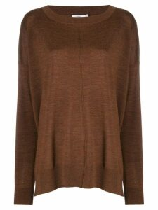 Closed boat neck sweatshirt - Brown