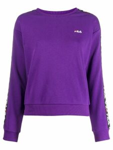 Fila Tivka logo tape sweatshirt - PURPLE