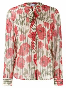 Red Valentino striped floral print shirt