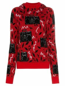 Saint Laurent Beatbox intarsia jumper - Red