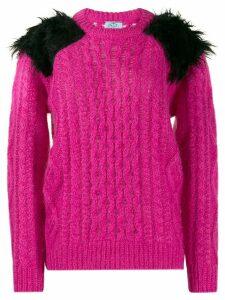 Prada chunky knit jumper - PINK