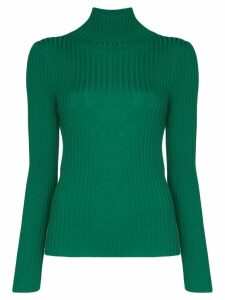 Plan C turtleneck ribbed knit top - Green