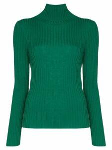Plan C turtleneck ribbed knit top - Green