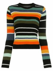 The Elder Statesman Tes striped cashmere top - Multicolour