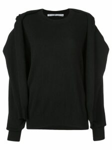 Alexander Wang cardigan sweatshirt - Black