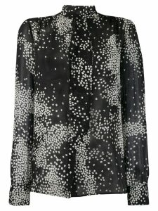Giambattista Valli printed long-sleeved blouse - Black