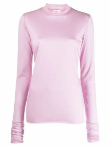 Closed turtleneck top - PINK