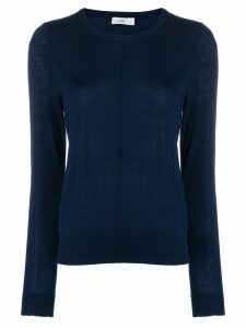 Closed fine knit sweatshirt - Blue