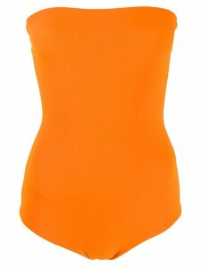 Alexandre Vauthier strapless body top - ORANGE
