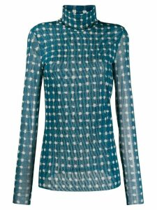 Steffen Schraut sheer turtleneck sweatshirt - Blue