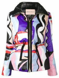 Emilio Pucci Vallauris Print Quilted Coat - Purple