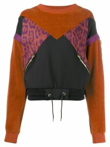 Just Cavalli contrast panelled jumper - Black